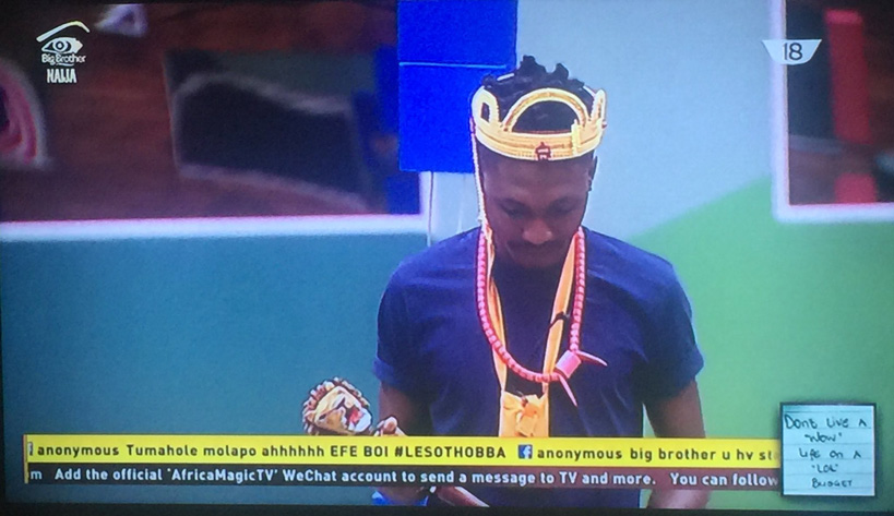 Efe Head of house Big Brother