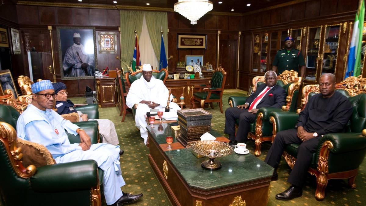 Gambia, Jammeh, Buhari, Sirleaf, Mahama