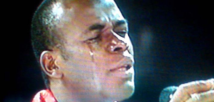 Father Mbaka crying