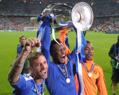 Mikel UCL trophy