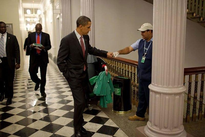 Obama knuckle cleaner