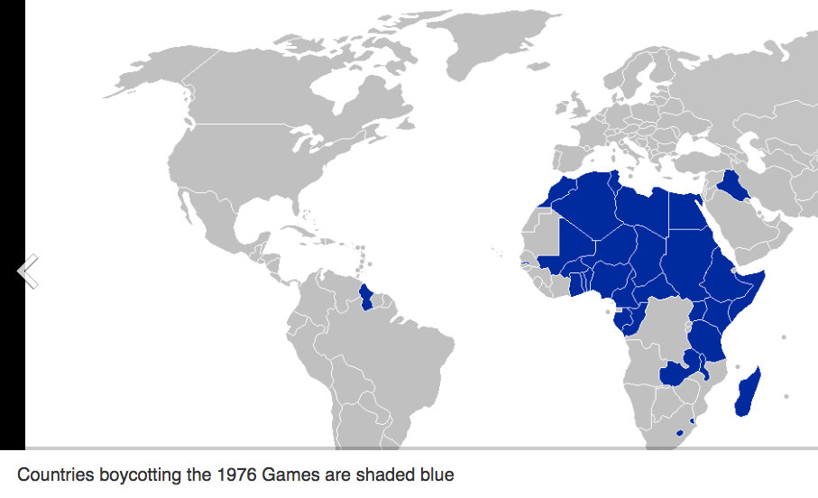 Nigeria boycotts 1976 Olympics