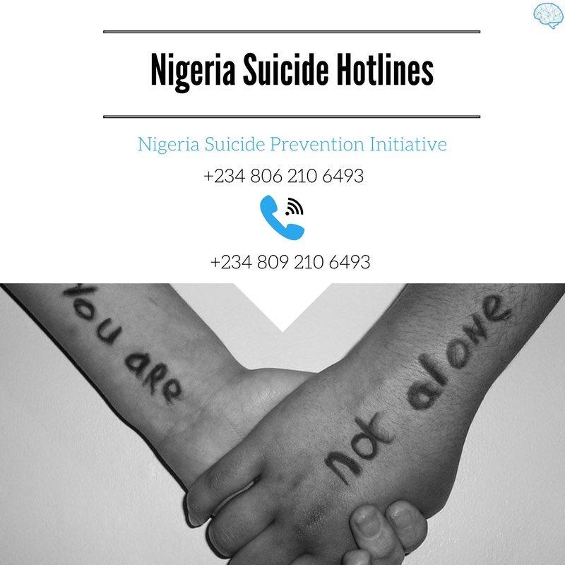 Suicide hotlines Nigeria