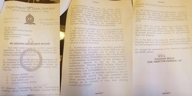 DSS Letter Magu