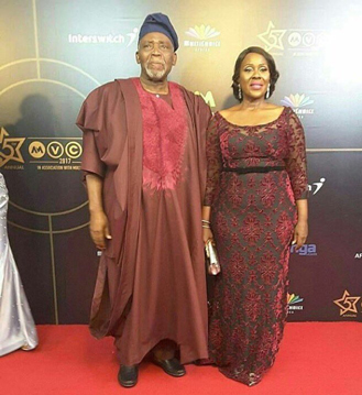 Olu Jacobs and Joke Silver