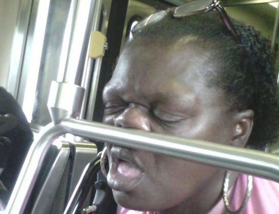 Sleeping in bus