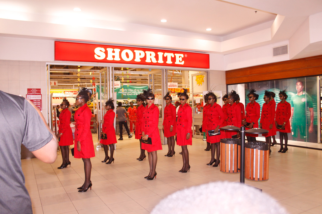 Shoprite, ladies in red
