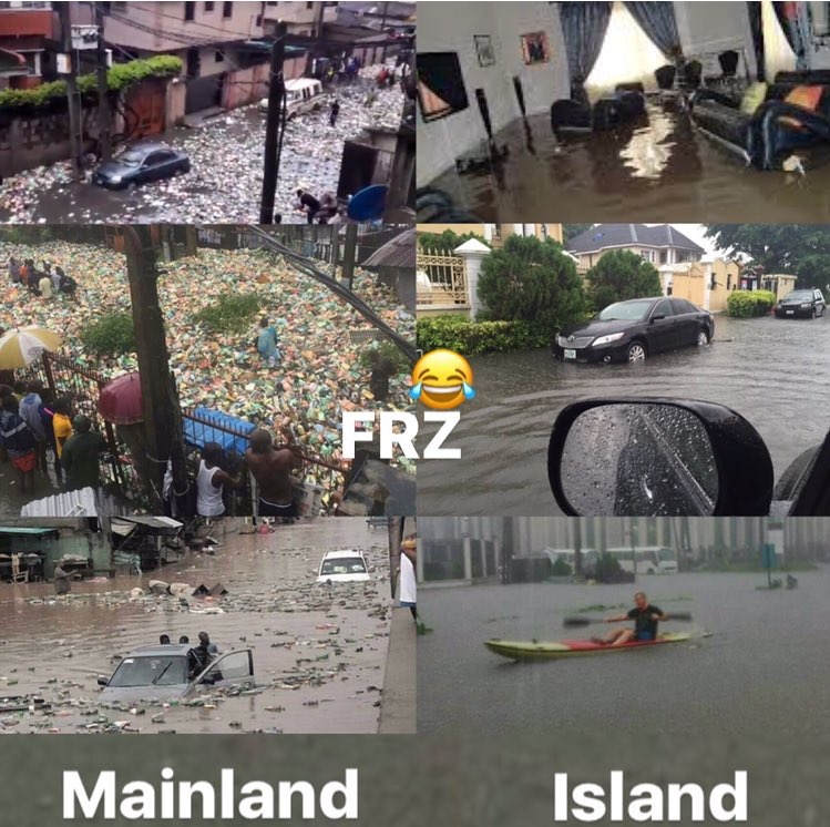 Island vs Mainland flood