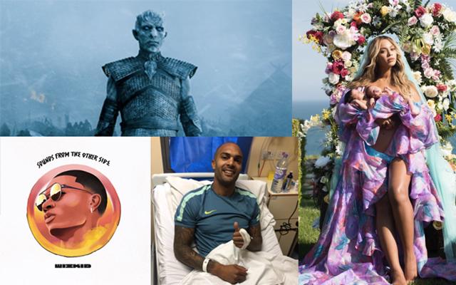 Game of Thrones, Wizkid, Beyonce, Carl Ikeme