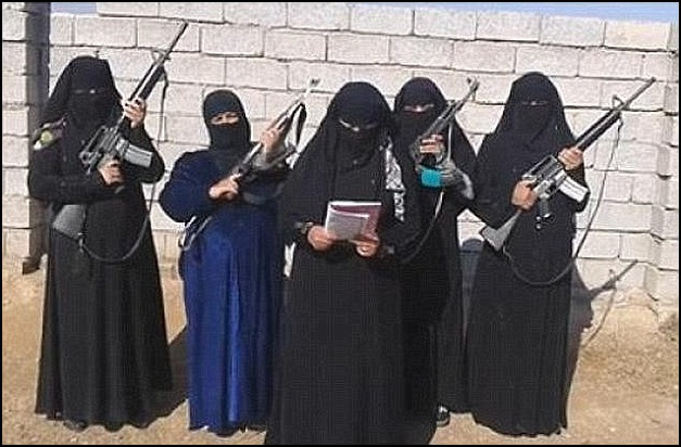 Isis female, feminists