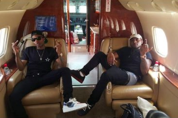 Wizkid and Davido Private jet
