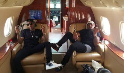 Wizkid and Davido Private jet