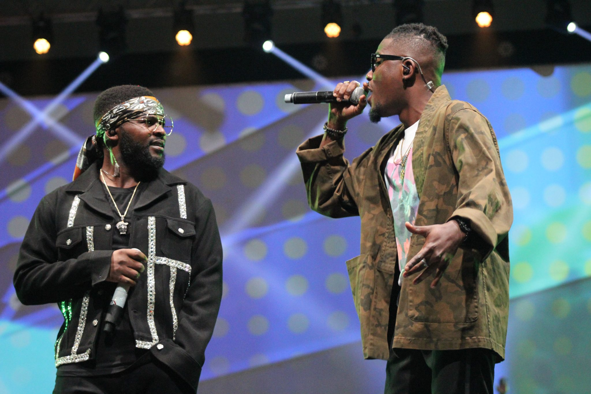 Falz and YCee performing last night at The Falz Experience