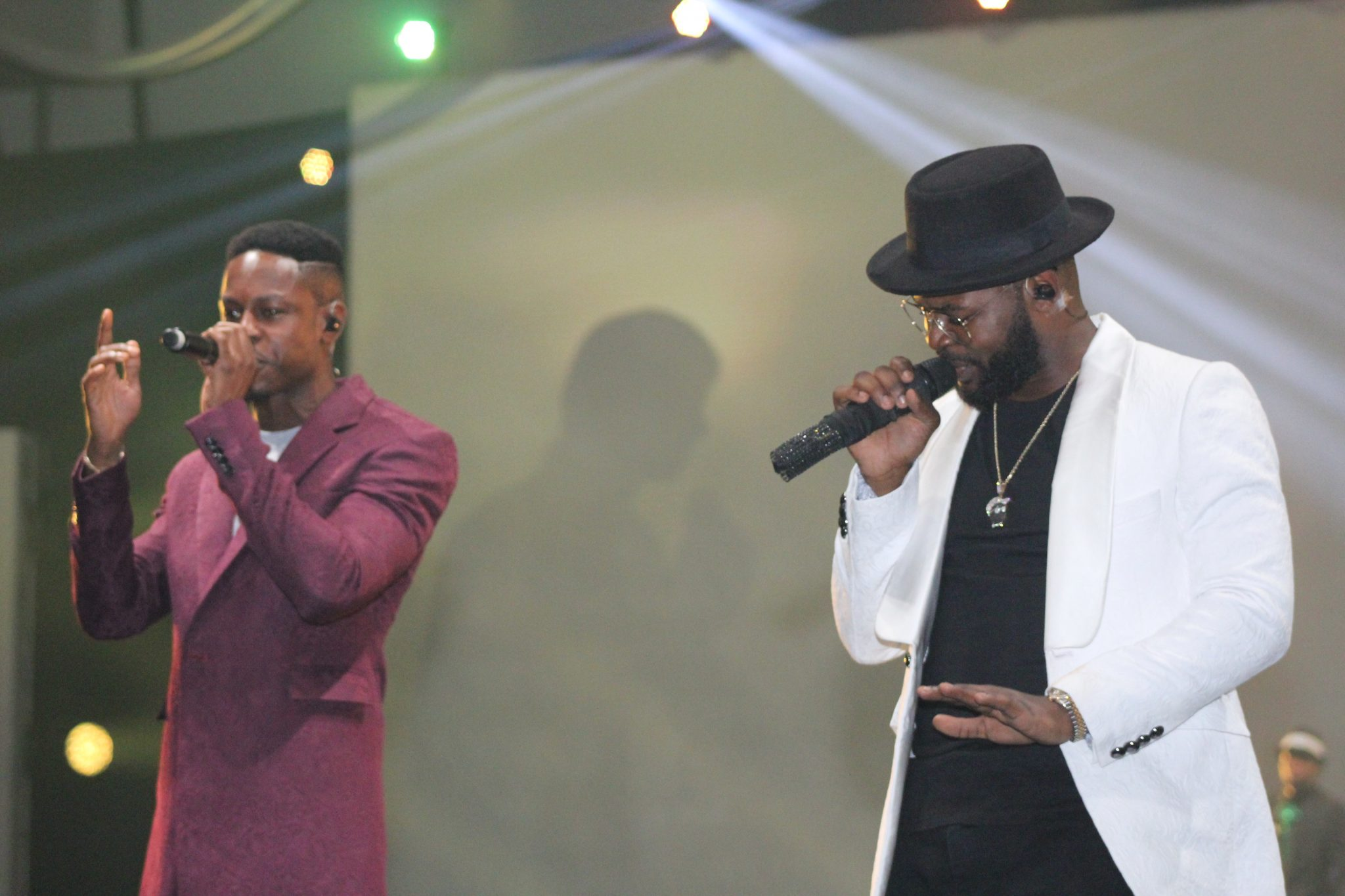 Poe and Falz performing at The Falz Experience