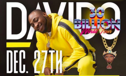 Davido 30 billion tour concert