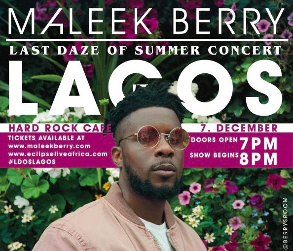 Maleek Berry concert