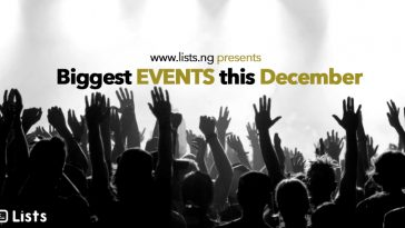 Biggest events in Nigeria this December, 2017