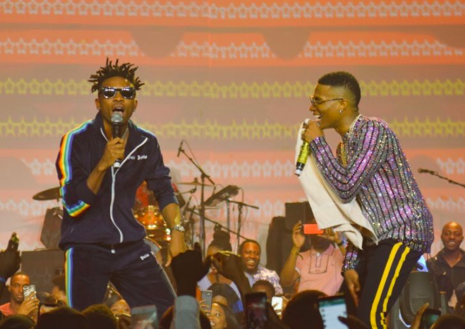 Wizkid and Mayorkun, concert