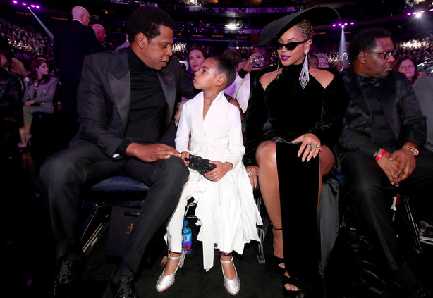 Jay Z, Blue Ivy and Beyonce, 2018 Grammys