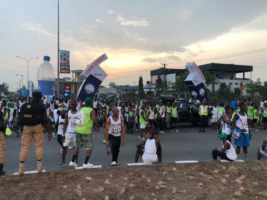 Lagos Marathon - 10km start point
