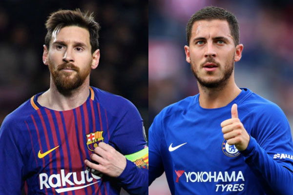 Messi and Hazard, Chelsea vs Barcelona