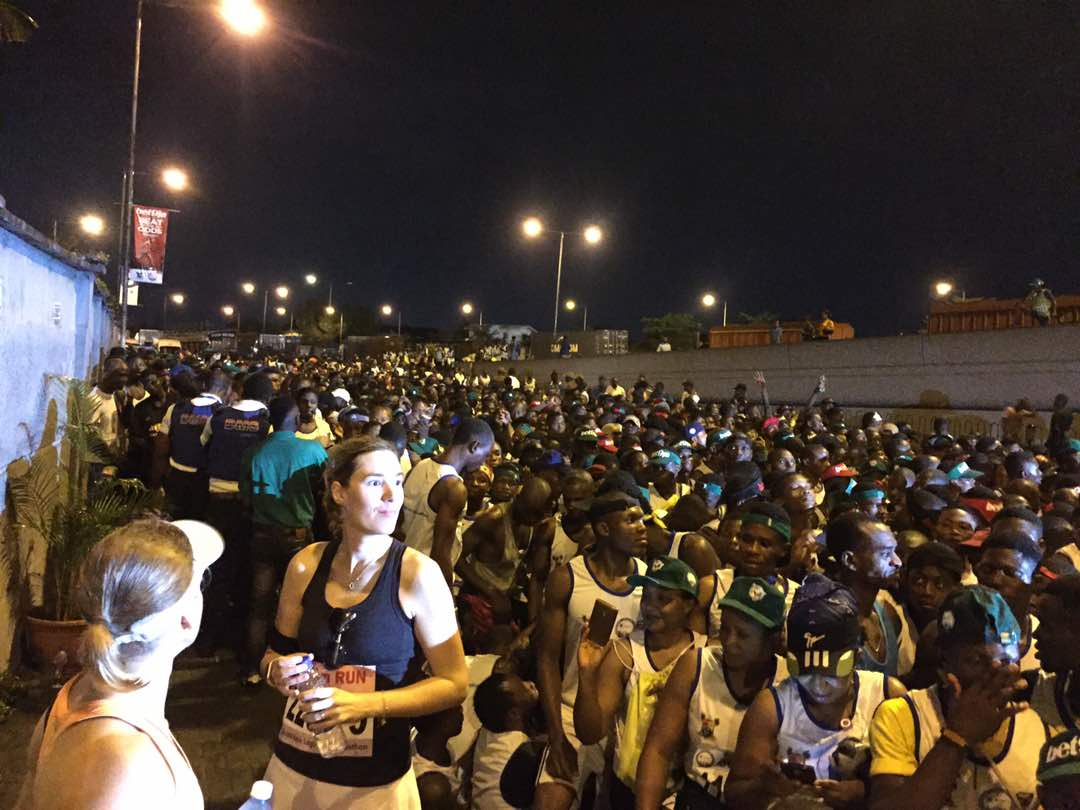 The starting line of the Lagos Marathon