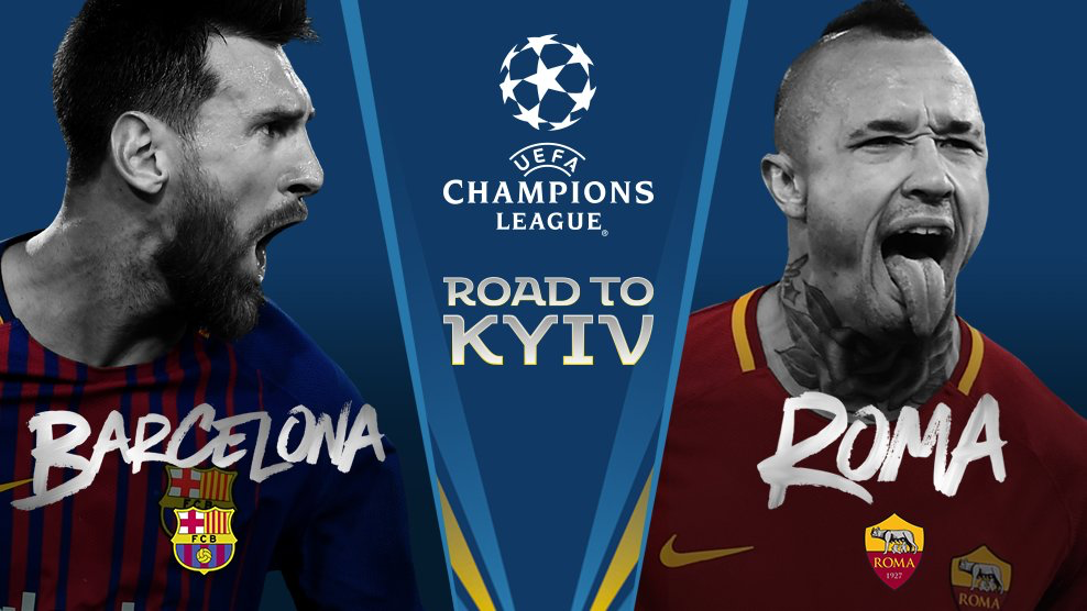UCL Draw Fixtures, Barcelona vs Roma