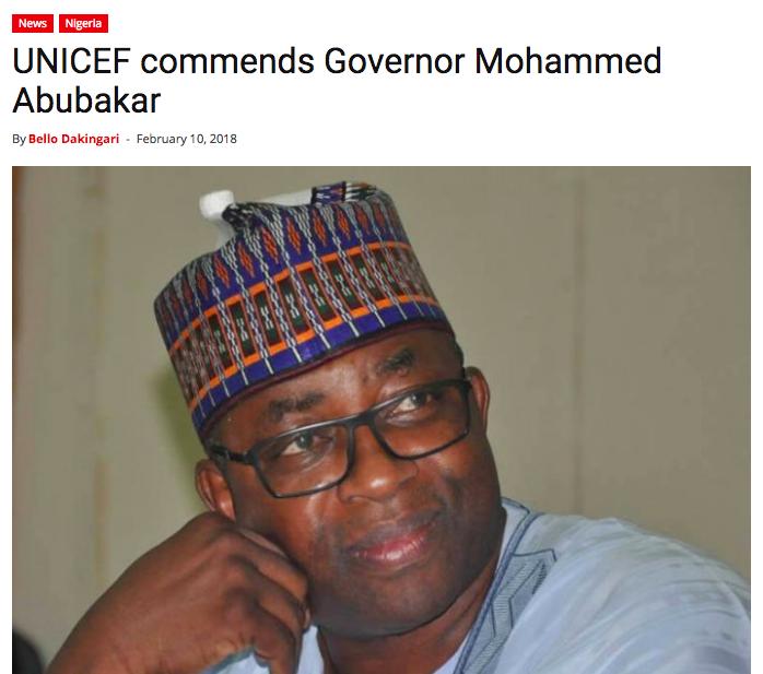 Mohammed Abubakar, Bauchi, Progressive Governors