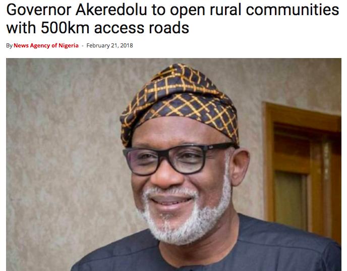 Akeredolu, Ondo, Progressive Governors