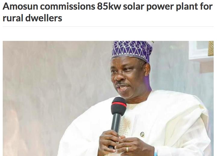 Amosun, Progressive Governors