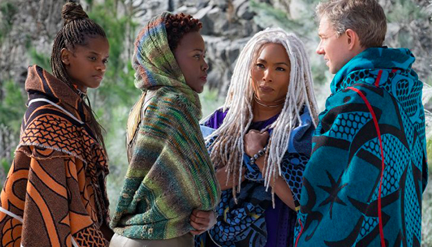 Shuri, Nakia, Queen Ramonda, and Agent Ross, Black Panther