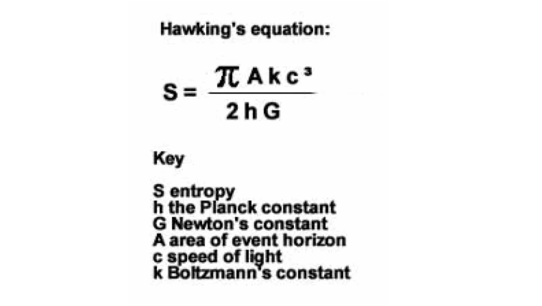 Stephen Hawking equation