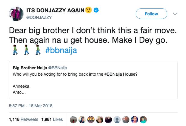 Don Jazzy, BBNaija
