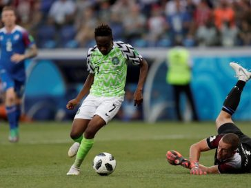 Ahmed Musa of the Super Eagles