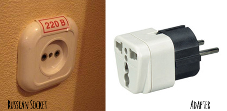 russian socket and adapter