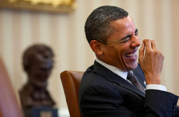 Obama laugh meme