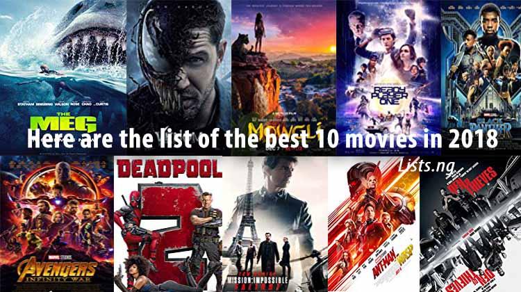 top 10 top movies 2018