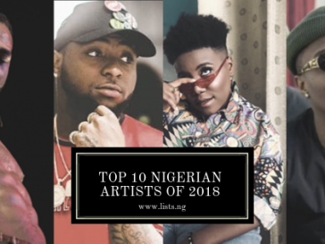 Top Nigerian Artists of 2018