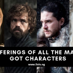 Sufferings of the Game of Thrones Characters