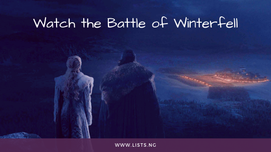 Game of thrones Battle of Winterfell