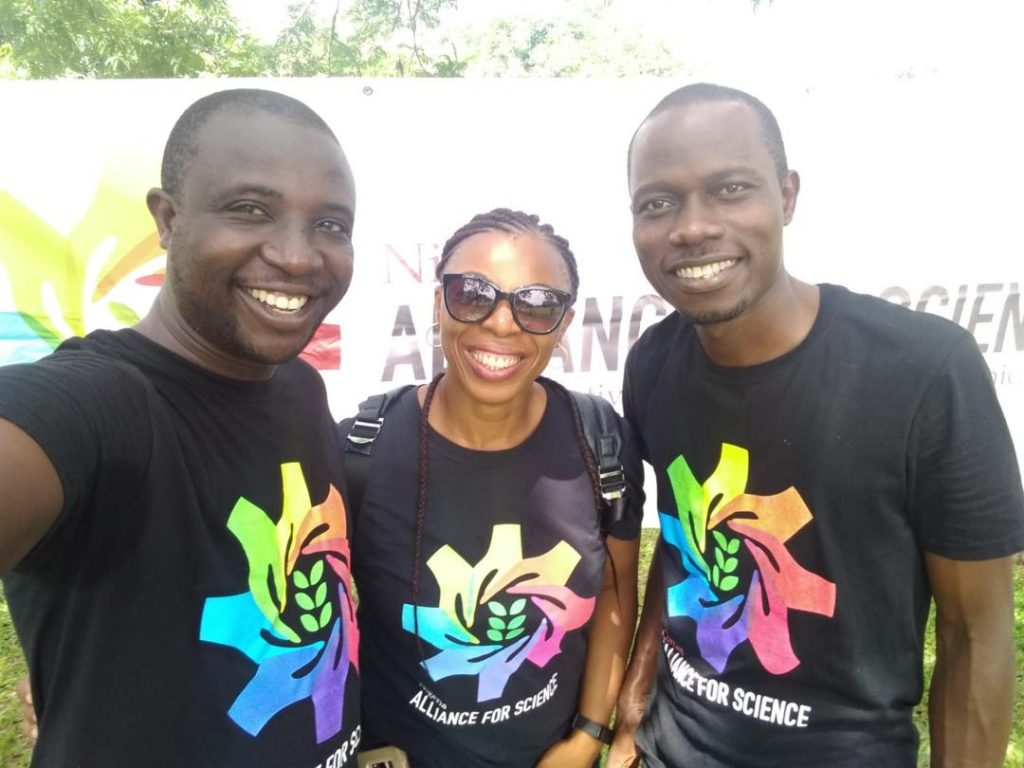 Michael, Nkechi and Okon, Fellows of the Cornell Alliance For Science