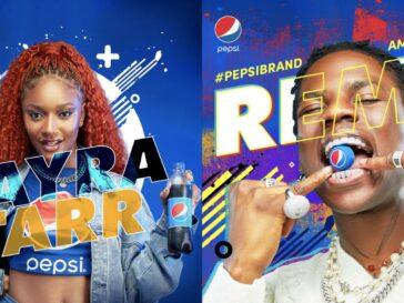 Pepsi Ambassador Rema and Arya Starr